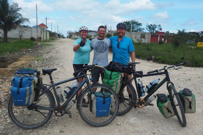 Guatemala - David with Ellen and Elmar from Fietsjunks!