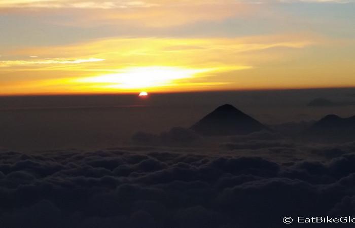 Guatemala - Sunset viewed from the summit of Volcano Acatenango, Guatemala