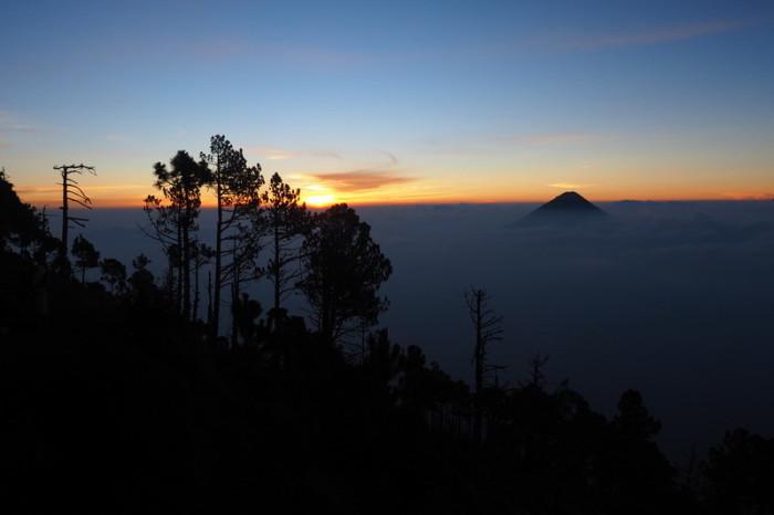 Guatemala - Sunrise from Volcano Acatenango, Guatemala