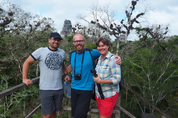 Guatemala - Enjoying Tikal with Ellen and Elmar from Fietsjunks!