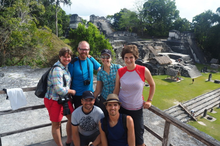 Guatemala - Enjoying Tikal with our fellow cycle tourers!