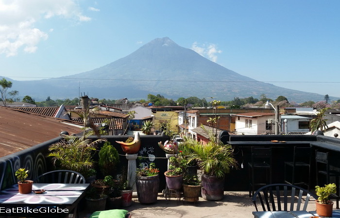 Guatemala - Views from the roof top terrace of  our hostel in Antigua, Guatemala