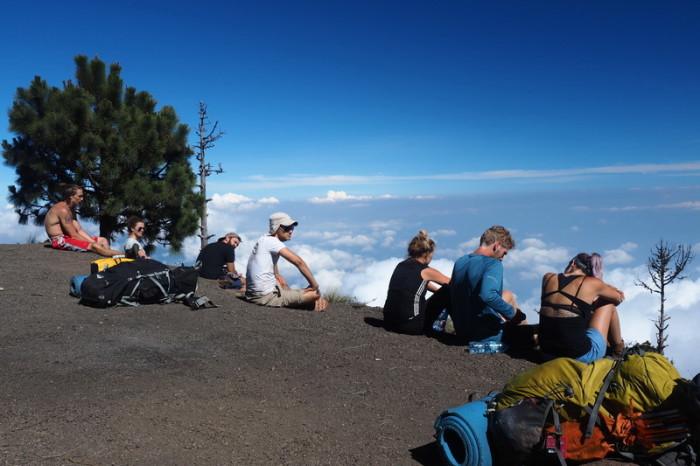 Guatemala - Enjoying the view of Volcano de Fuego!