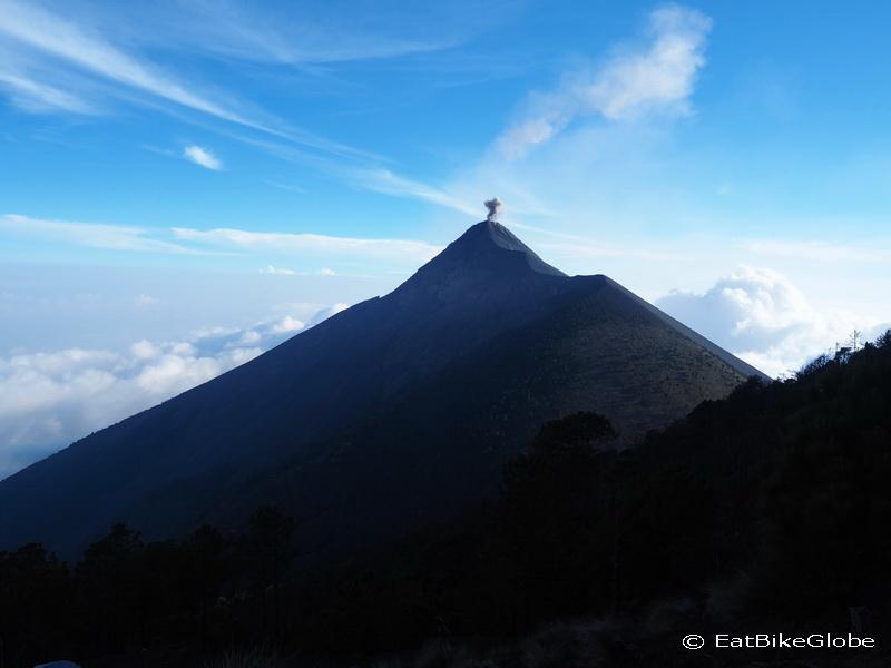 Views of Volcano de Fuego erupting!