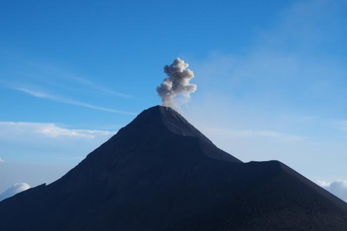 Guatemala - Views of Volcano de Fuego erupting!