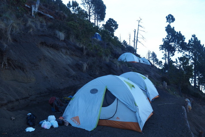 Guatemala - Our home for the night at base camp, Volcano Acatenango, Guatemala