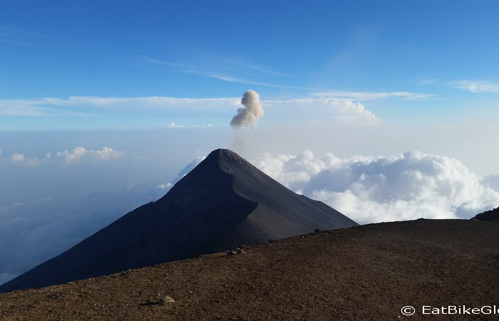 Guatemala - Volcano de Fuego viewed from the summit of Volcano Acatenango, Guatemala