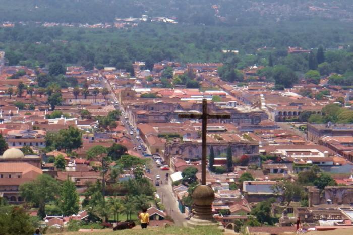 Guatemala - View from Cerro de la Cruz, Antigua, Guatemala