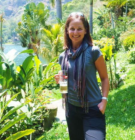 Guatemala - Jo at Hotel Jinava, San Marco, Lake Atitlan, Guatemala