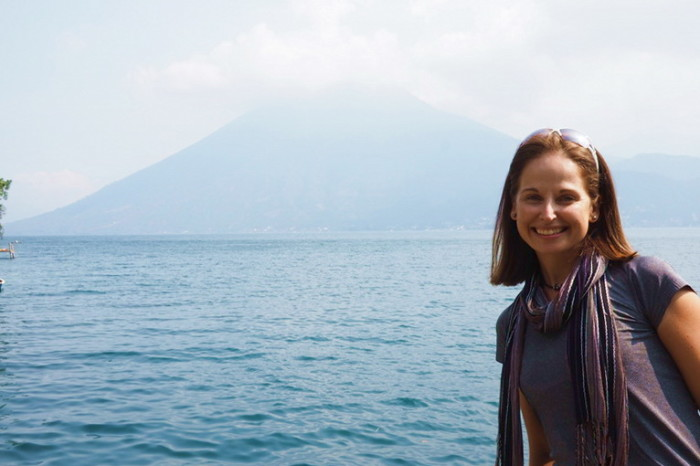 Guatemala - Jo and Volcano San Pedro, Lake Atitlan, Guatemala