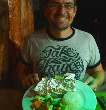 Guatemala - Yummy seafood, San Pedro, Lake Atitlan, Guatemala