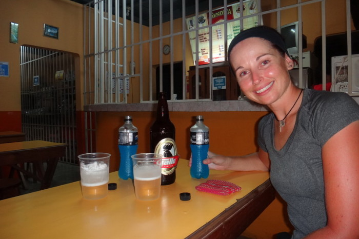 Guatemala - Its kind of strange being served dinner from behind bars! Chiquimulilla, Guatemala