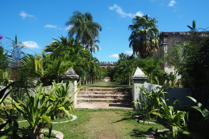 Mexican Road Trip - The beautiful grounds of Hacienda Yaxcopoil, Yucatan, Mexico