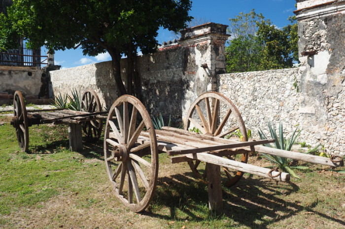 Mexican Road Trip - Old carts, Hacienda Yaxcopoil, Yucatan, Mexico