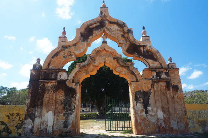 Mexican Road Trip - The Moorish Double Arch at Hacienda Yaxcopoil, Yucatan, Mexico