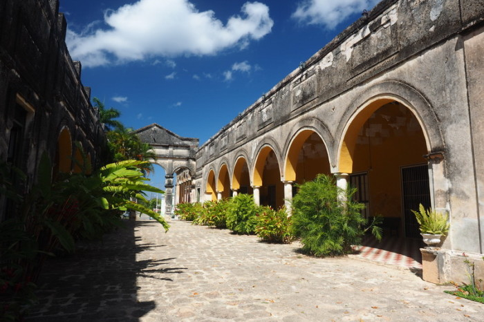 Mexican Road Trip - Elegant Courtyard at Hacienda Yaxcopoil, Yucatan, Mexico