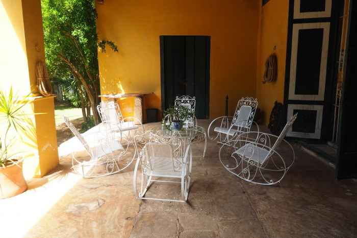 Mexican Road Trip - Outdoor sitting area, Hacienda Yaxcopoil, Yucatan, Mexico