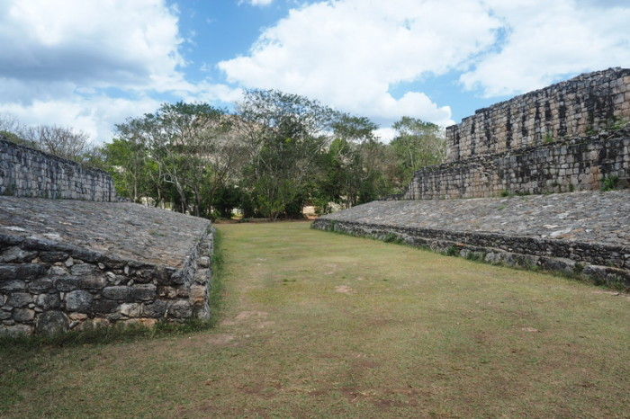 Mexican Road Trip - The ball court at Ek' Balam, Yucatan, Mexico