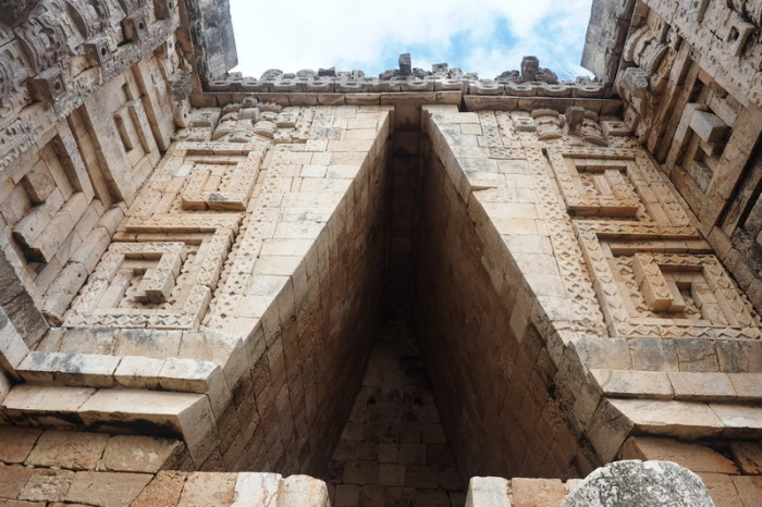 Mexican Road Trip - Close up of the Governor's Palace,  Uxmal, Yucatan, Mexico