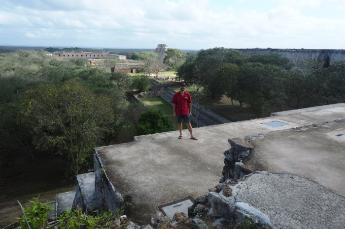 Mexican Road Trip - Views from La Gran Pirámide (The Great Pyramid),  Uxmal, Yucatan, Mexico