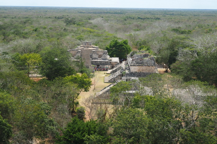 Mexican Road Trip - The view from on top of the Acropolis at Ek' Balam, Yucatan, Mexico