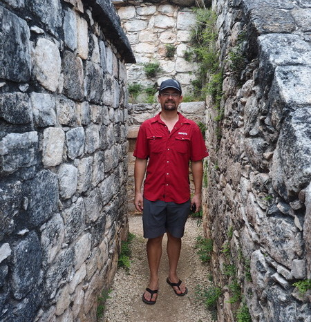 Mexican Road Trip - David at Ek' Balam, Yucatan, Mexico