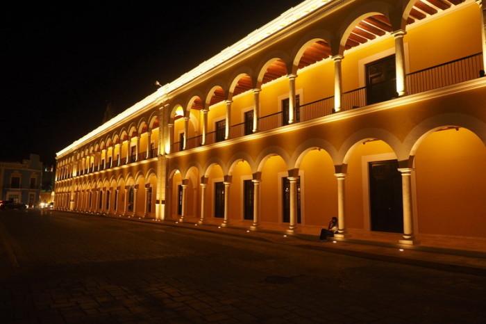 """Mexican Road Trip - The beautiful Centro Cultural """"El Palacio"""" (Museo de Fortificaciones, Comercio y Navegación), Campeche, Campeche, Mexico"""