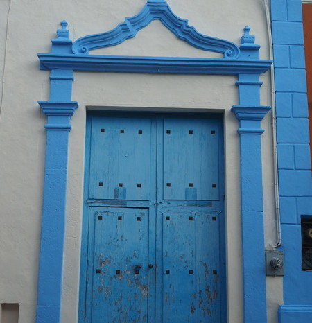 Mexican Road Trip - Beautiful doorway, Campeche, Campeche, Mexico