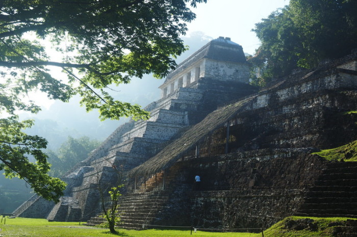 The gorgeous Temple of the Inscriptions, Palenque, Chaipas, Mexico