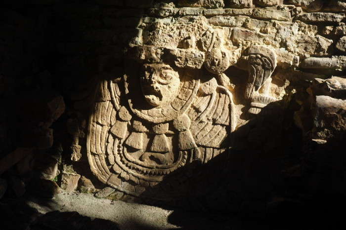 Mexican Road Trip - Interesting carving, Palenque, Chiapas, Mexico