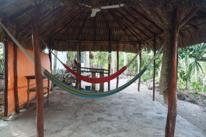 Mexican Road Trip - Chill out zone at The Yucatan Mayan Retreat Eco-Hotel and Camping,  Yokdzonot, Yucatan, Mexico