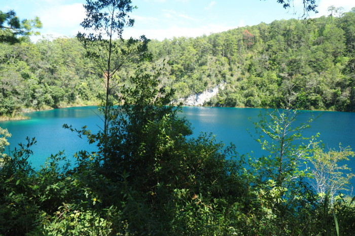 Mexican Road Trip - One of the lovely lakes making up the Lagunas de Colores, in the Lagos de Montebello National Park, Chiapas, Mexico