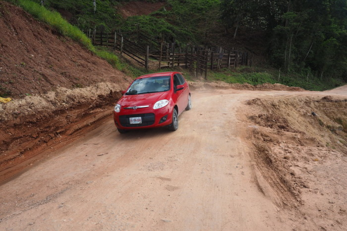 Mexican Road Trip - The road conditions were sometimes a little rough along the Carretera Fronteriza on our way back to Palenque, Chiapas, Mexico