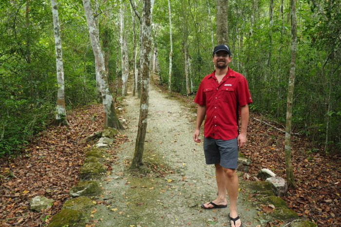 Mexican Road Trip - Starting our long walk through Calakmul, Campeche, Mexico