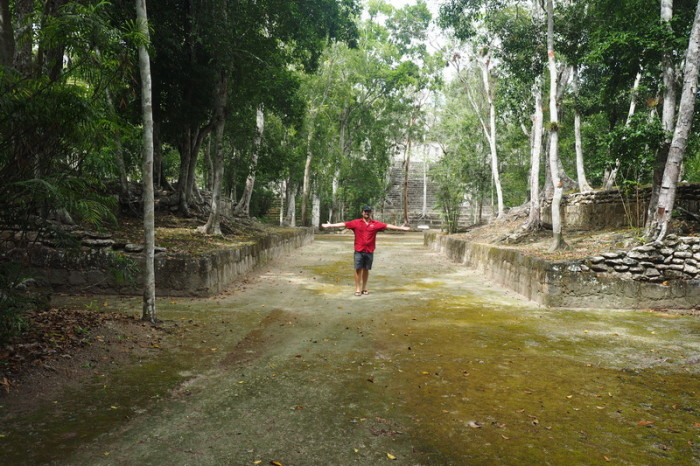 Mexican Road Trip - The ball court at Calakmul, Campeche, Mexico