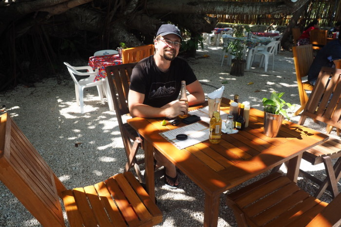 Mexican Road Trip - Enjoying some beers with a view, Laguna Bacalar, Quintana Roo, Mexico