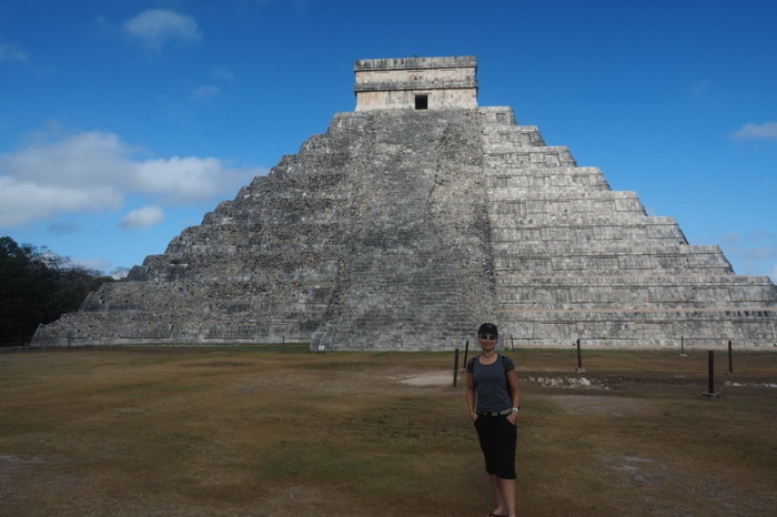 "Mexican Road Trip - Jo and ""El Castillo"", Chichen Itza, Yucatan, Mexico"