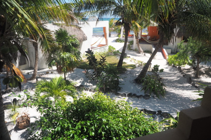 Mexican Road Trip - The view from our balcony! Mayan Beach Garden, near Mahahual, Quintana Roo, Mexico
