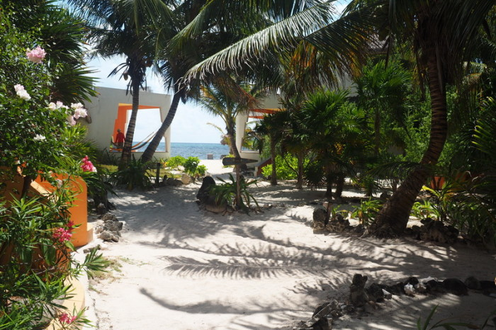 Mexican Road Trip - The beautiful Mayan Beach Garden, near Mahahual, Quintana Roo, Mexico