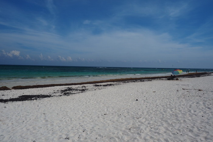 Mexican Road Trip - Beautiful beach on the Caribean Coast near Playa Del Carmen, Quintana Roo, Mexico