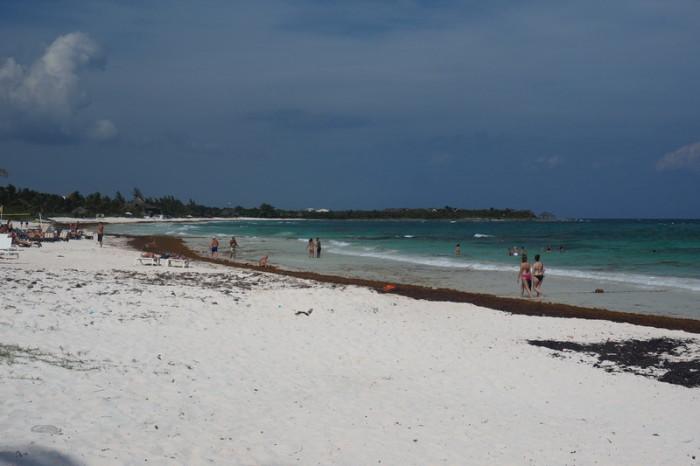 Mexican Road Trip - Beautiful beach on the Caribean Coast near Playa Del Carmen, Quintana Roo, Mexico