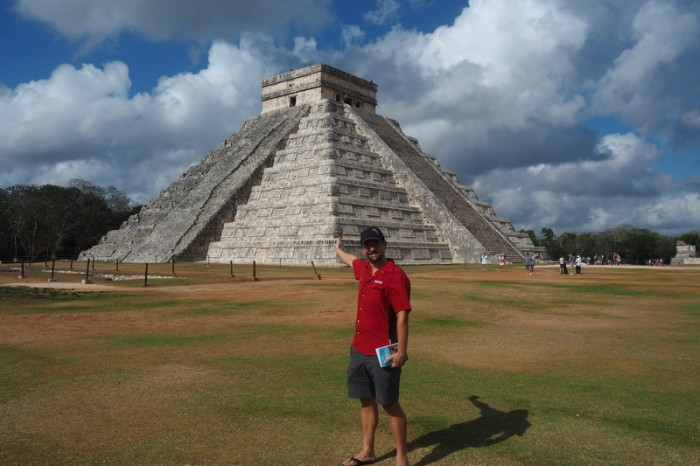 "Mexican Road Trip - David and ""El Castillo"", Chichen Itza, Yucatan, Mexico"