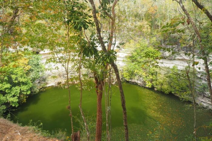 """Mexican Road Trip -  """"Cenote Sagrado"""" or Sacred Cenote, Chichen Itza, Yucatan, Mexico"""