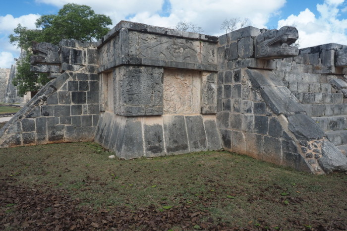 Mexican Road Trip - Platform of the Eagles and the Jaguars (Plataforma de Águilas y Jaguares), Chichen Itza, Yucatan, Mexico