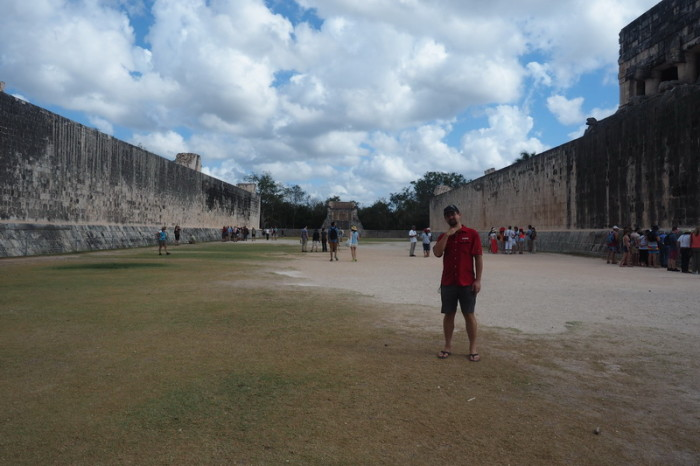 "Mexican Road Trip - The enormous ""Great Ball Court"", Chichen Itza, Yucatan, Mexico"