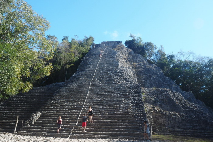 Mexican Road Trip - Nohuch Mul pyramid at Coba, Quintana Roo, Mexico