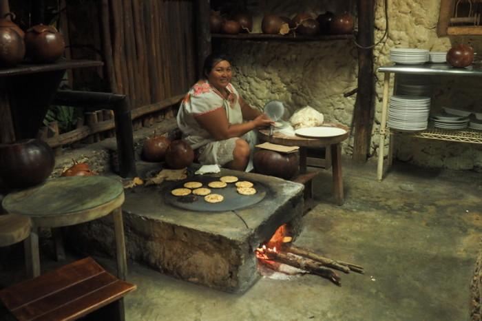 Mexican Road Trip - You can watch the ladies preparing fresh tortillas at Kinich Restaurant