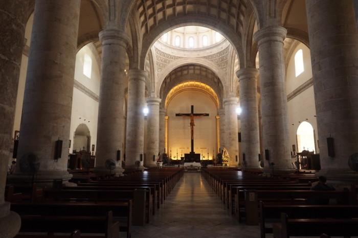 Mexican Road Trip - The Cristo de la Unidad (Christ of Unity), inside the Catedral de San Ildefonso, Merida, Yucatan, Mexico