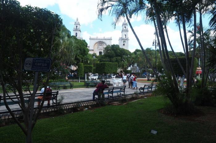 "Mexican Road Trip - The beautiful main town square, the ""Plaza Grande"", Merida, Yucatan, Mexico"