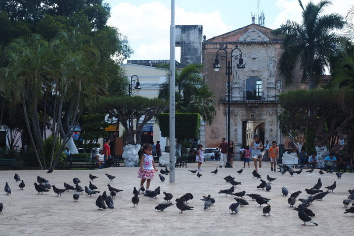 "Mexican Road Trip - The beautiful main town square, the ""Plaza Grande"", Merida, Yucatan, Mexico"